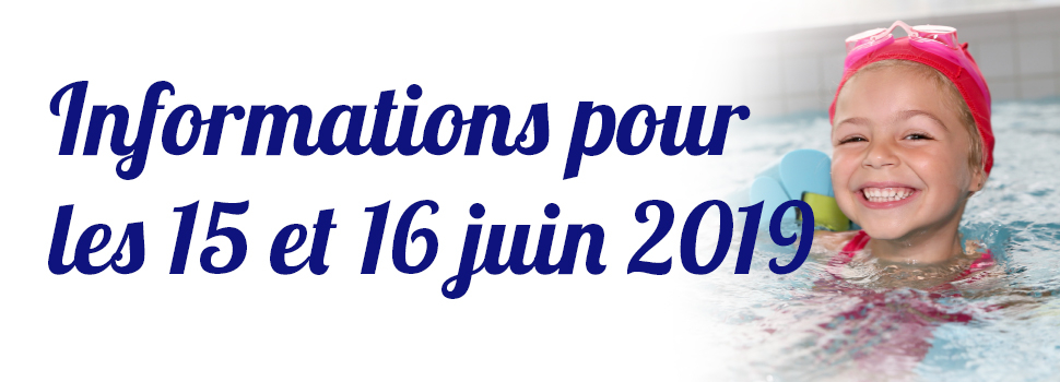 Informations pour ce week-end